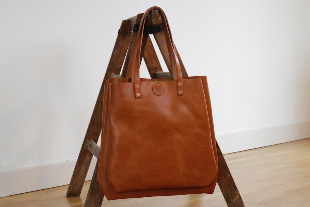 38456d2b960d7 Isabel Tote Bag Shopper Leder Cognac Hellbraun Tasche 3 -